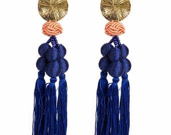 Fringe drop earrings  preorder