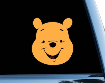 Pooh Car Sticker Disney Bumper Sticker Window Decal Vinyl Sticker Winnie The Pooh Sticker Window Stickers Luggage Stickers Laptop bn663