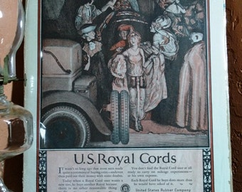 US Royal Cords Advertisement 1924 from Saturday Evening Post