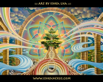 """10""""x20"""" Eco Art Print - """"Room with a View"""" by Ishka Lha"""