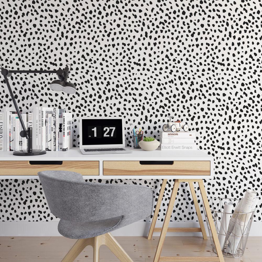 Dalmatian Removable Wallpaper / Cute Self Adhesive Wallpaper