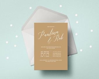 Hochzeit_Einladung, minmalistisch, wedding card, stylish, calligraphy, invitations, invitation wedding