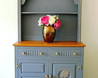 Beautifully hand painted dresser -Welsh dresser-vintage dresser-farmhouse dresser
