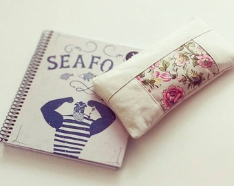 Pencil Case, Pen Case, Pencil Pouch, Make Up Bag, Floral, Cotton Pouch, Gadget Case, Zipper Pouch, Pencil Bag, Organizer