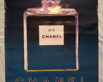 Andy Warhol Chanel No 5 French Perfume Pop Art Vintage Poster, 1997, 22x28