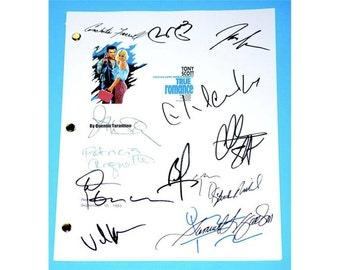 True Romance Movie Script Signed Screenplay Autographed: Quentin Tarantino, Christian Slater, Dennis Hopper, Samuel Jackson, Brad Pitt