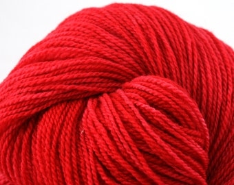 Mohonk Light Hand Dyed fingering weight NYS Wool 550yds 4oz Cheerwine