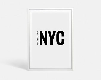 New York City print NYC art New York print New York art New York poster New York printable large Manhattan poster New York City NYC signs