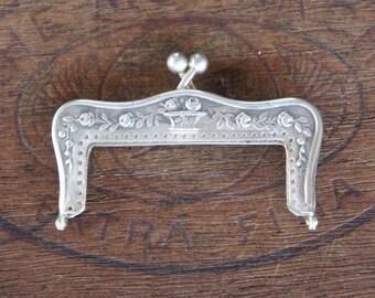 Antique Silver Plated Art Nouveau Purse Frame