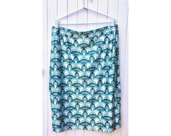Art Deco Mint & Teal stretch pencil skirts on final sale - reduced from 69 to 49