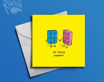 Lego birthday card etsy lego card lego birthday card greetings card birthday card card for him bookmarktalkfo Image collections