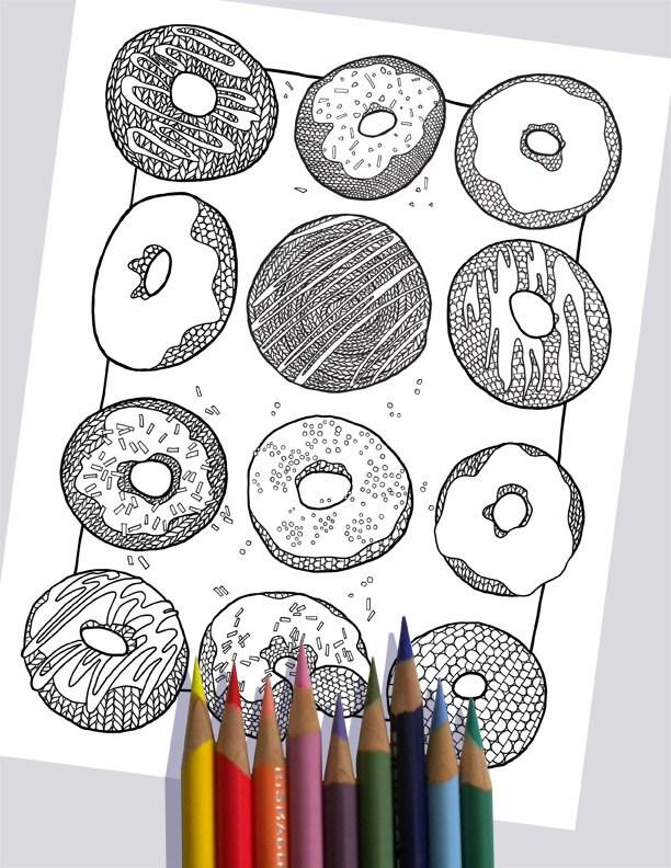 Charmant Donut Färbung Seite Zeitgenössisch - Ideen färben ...