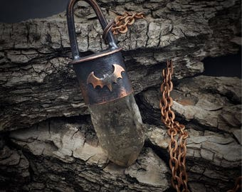 Smoky Quartz Necklace | Copper Smithed | Copper Jewelry