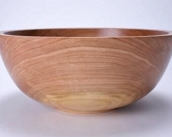 """Wild Cherry Wooden Salad Bowl #1492 10 5/8"""" X 4 1/2"""""""