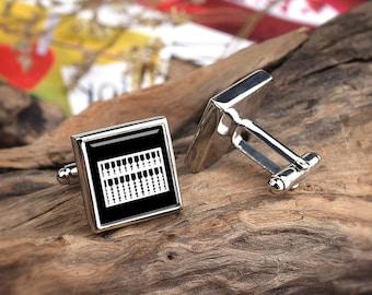 Abacus Cufflinks Accountant Cufflinks, uk silver Counting Working Abacus  Men's Cuff Links, Bookkeeper Wedding Cuff Links, Bursar Gifts