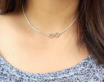 Infinity necklace / infinity choker / layering necklace