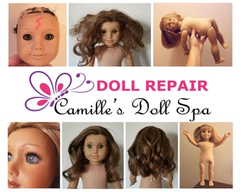 American Girl Doll Repair Spa and Hospital: Hair Restoration, Limb Tightening, Stain Removal, Custom Paint and More