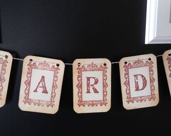 Brown Antique frame CARDS signs, Cards Antique wedding signs table numbers brown frame vintage frame cards table numbers