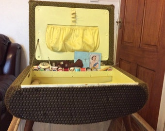 retro stool sewing box