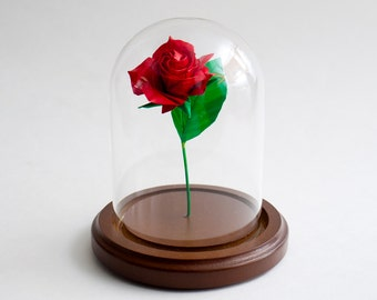 Eternal rose / Red rose / Origami rose / Paper anniversary gift / Centerpiece / Small size
