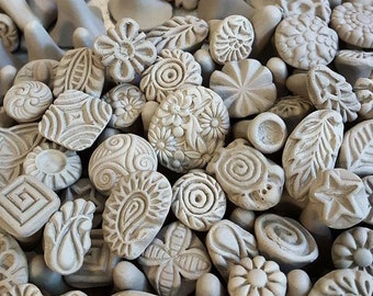 Clay stamps for pottery, fimo, PMC, fondant and more- Clay Tools, Pottery Texture Tool, ***PLEASE read listing description