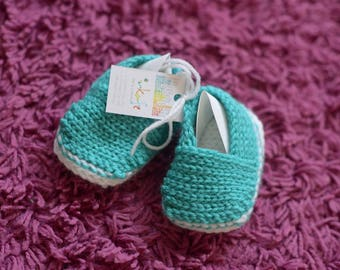 Baby Espadrille Shoes - Crochet Baby Shoes, Newborn Espadrilles, Crochet Booties, Handmade Baby Shoes