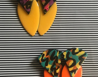 Fun bright colored statement earrings!