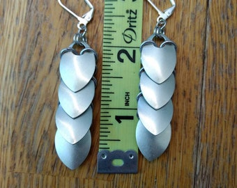 Scale Maille Earrings 3inch