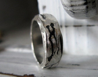 SALE Size 8.75 Chunky Silver Ring Size Mens Wedding Band Mens Wedding Ring In Stock Rustic Mens Wedding Band Mens Wedding Rings Viking Weddi