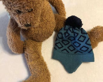 Baby Earflap Beanie, Baby Hat, knitted Baby Beanie, Baby Hat, Baby Earflap Hat, Baby Winter Hat