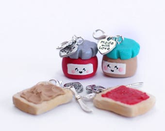 Peanut butter and jelly charms