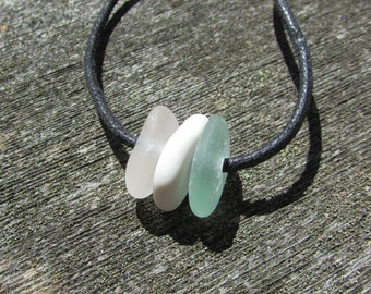 SIMPLE Beach Glass Necklace CHOKER