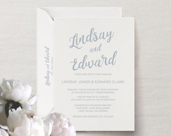 Custom Letterpress Wedding Invitation (Calligraphy)