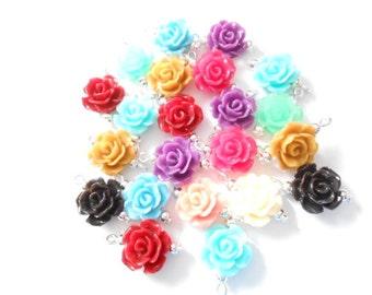 Flower Resin Dangle Beads