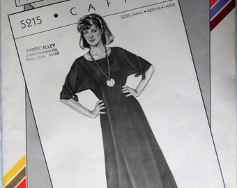 Stretch and Sew 5215.  Misses caftan pattern.  In-Ann-Instant 5215 pattern by Ann Person.  Pullover caftan pattern. SZ S-L.