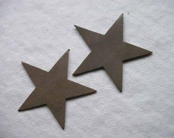 set of 2 large stars #14 leather