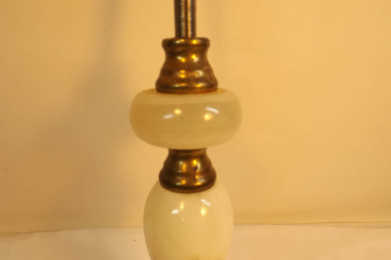 Vintage marble and brass lamp parts lamp shade holder eat sold by krisfindings aloadofball Images