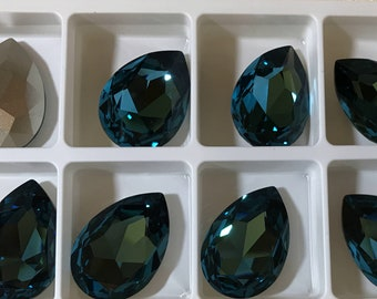 1 piece 4327 Indicolite 30mm x 20mm Swarovski Crystal Fancy Pear Shaped