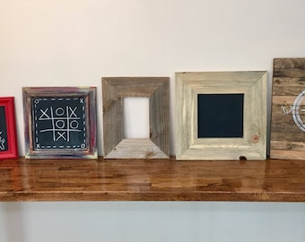 Variety of Painted/Stained Handmade and Reclaimed Chalkboards/Frames/Art