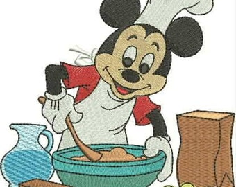 Mikey Mouse machine embroidery