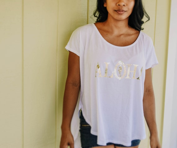 Aloha Tulip Hem Tee / Organic Cotton Collection