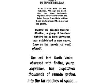 Star Wars Opening Crawl - Empire Strikes Back - SVG file