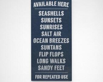 Available Here- Beach Signs- Art for Beach House Sign- Rustic Beach Decor- Gray- Beach House Decor- Beach Wall Art Prints- Beach Theme Decor