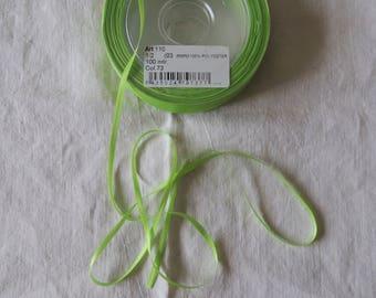 Green 3 mm wide satin ribbon