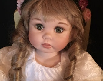 "Reproduction ""Cherish"" 17.5""sitting doll"
