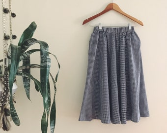 Vintage Gingham Circle Skirt