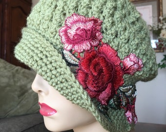 Vintage style slouch hat