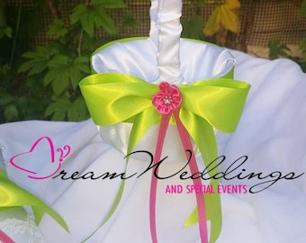 Flower Girl Basket Customize with your Wedding Colors
