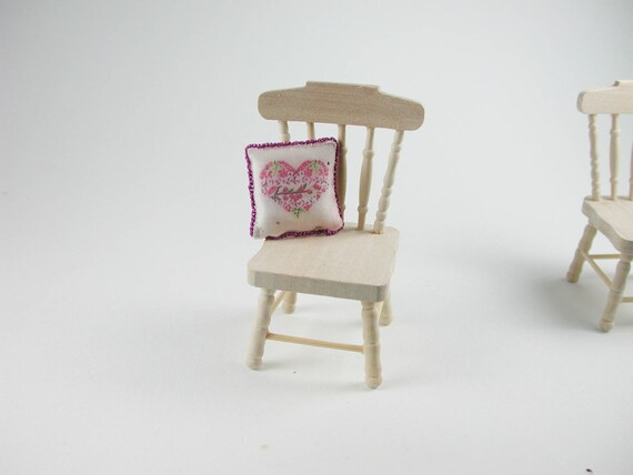 Chair 2 pieces, for the doll's house, the Dollhouse, Dollhouse miniatures, cribs, miniatures, model making # v 22095.2