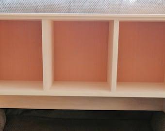 Unfinished Cubby Shelf Entryway Shelf Mudroom Shelf Cubby Storage